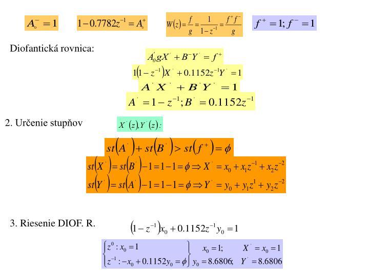 Diofantická rovnica: