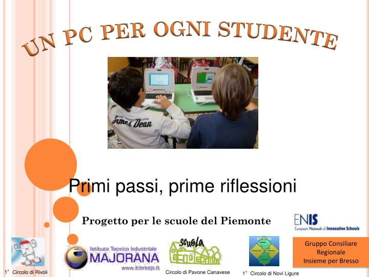Un pc per ogni studente
