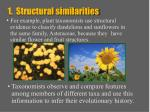 1 structural similarities