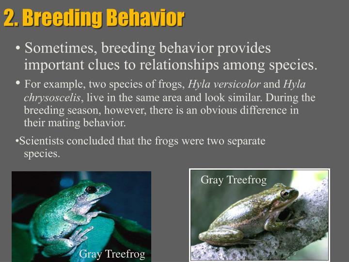 2. Breeding Behavior