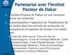 partenariat avec l institut pasteur de dakar