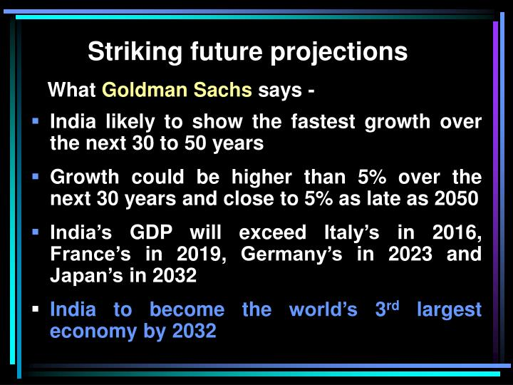 Striking future projections