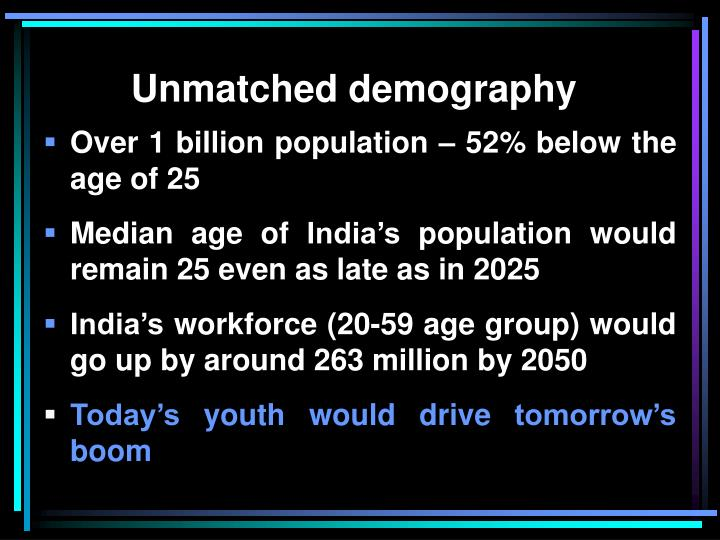 Unmatched demography