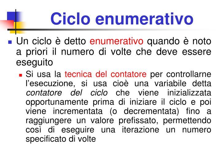 Ciclo enumerativo