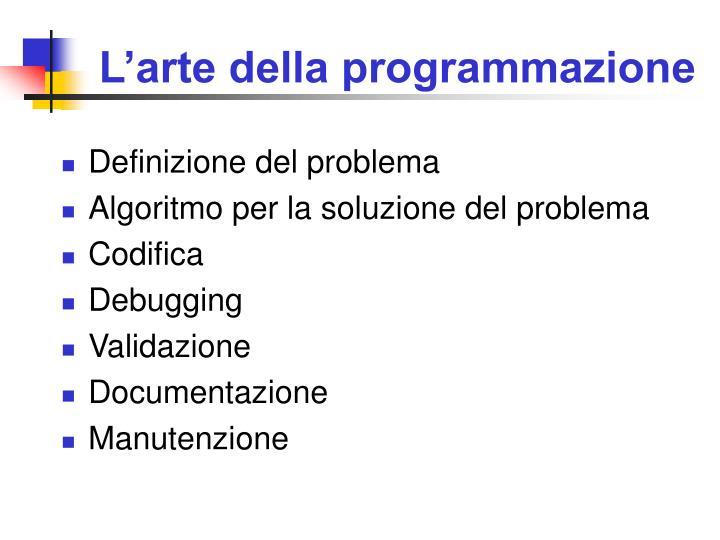 L'arte della programmazione