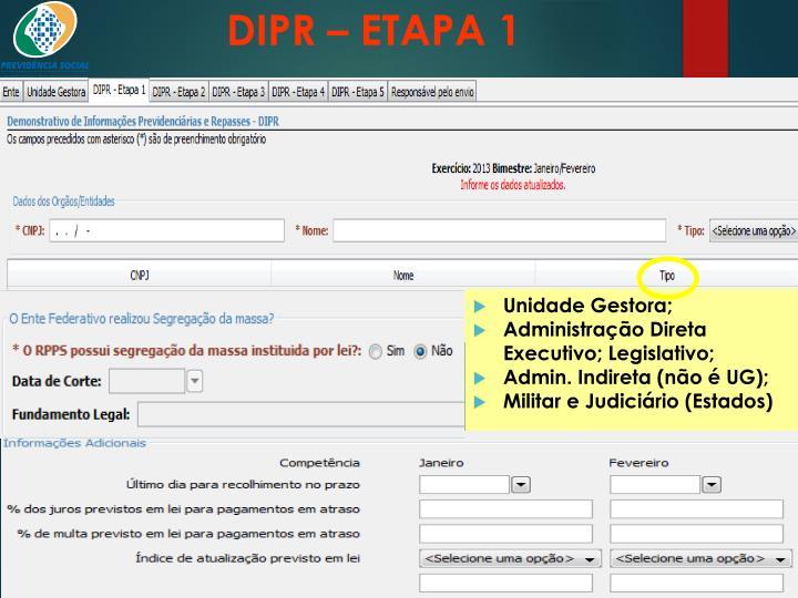 DIPR – ETAPA 1