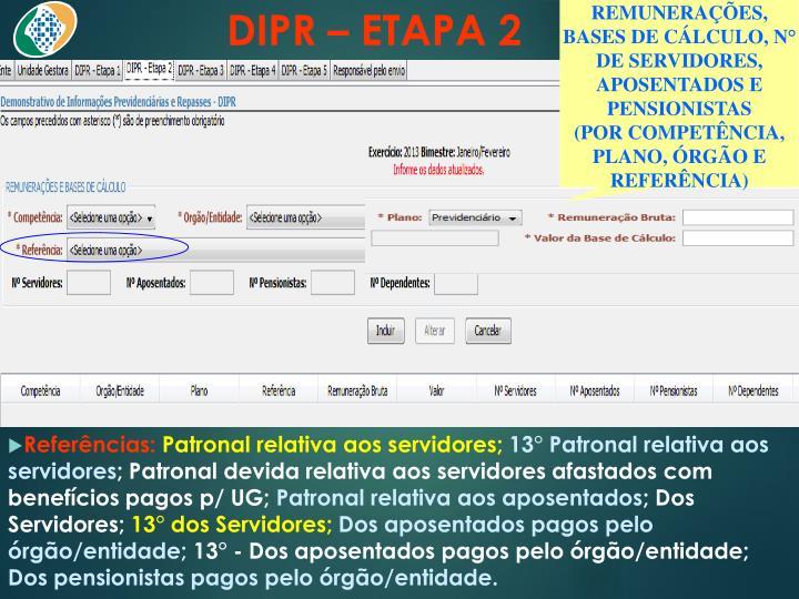 DIPR – ETAPA 2