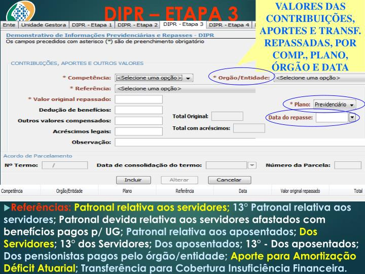 DIPR – ETAPA 3