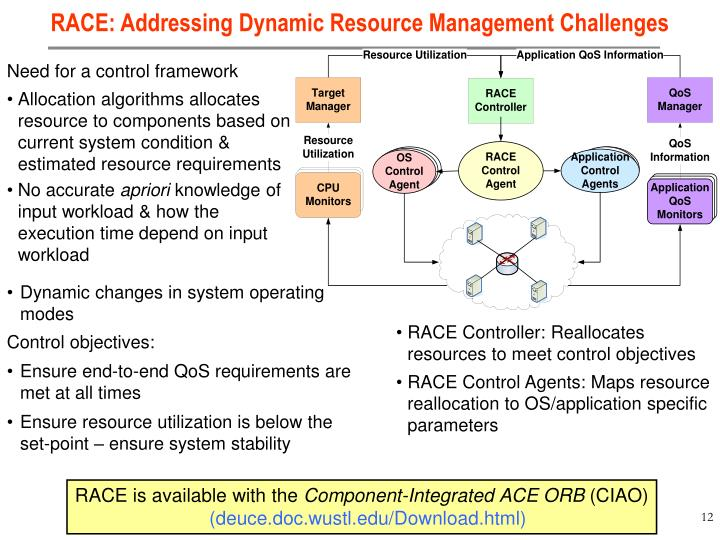 RACE: Addressing Dynamic Resource Management Challenges