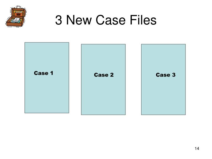 3 New Case Files