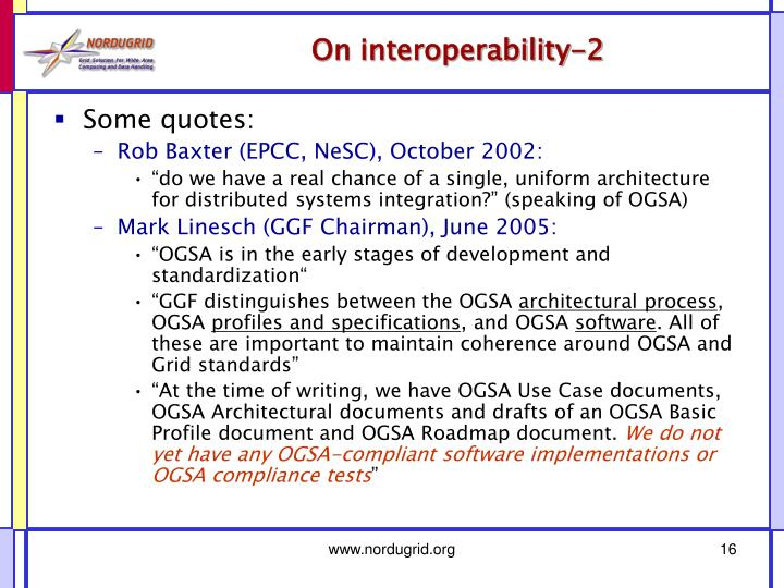 On interoperability-2