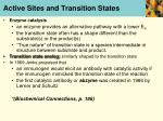 active sites and transition states