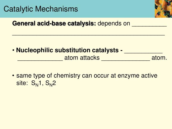 Catalytic Mechanisms