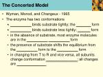 the concerted model