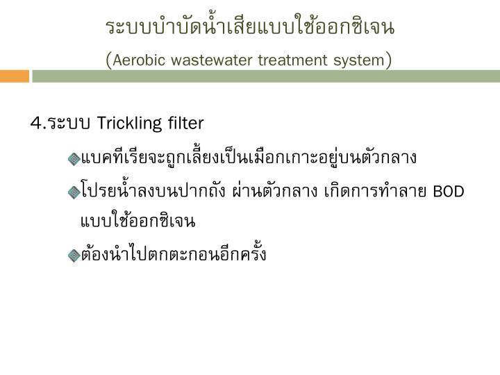 ระบบบำบัดน้ำเสียแบบใช้ออกซิเจน