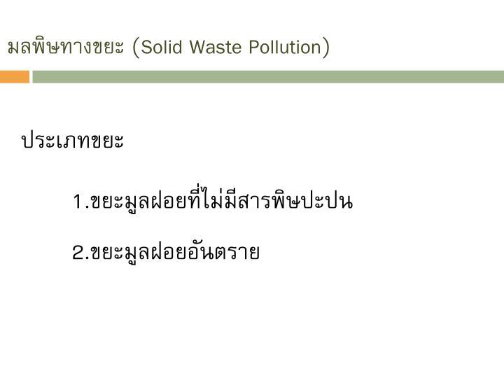 มลพิษทางขยะ