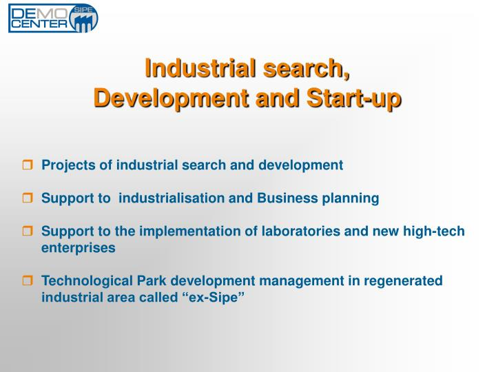 Industrial search,