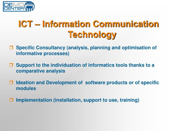 ICT – Information Communication Technology