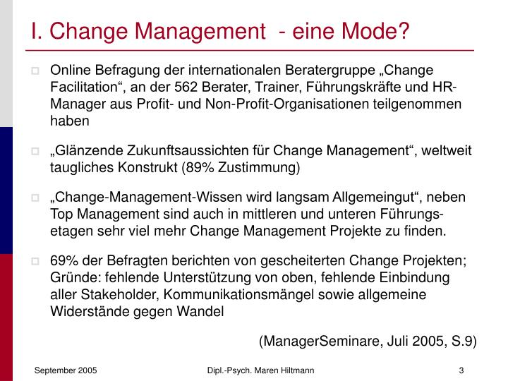 I change management eine mode