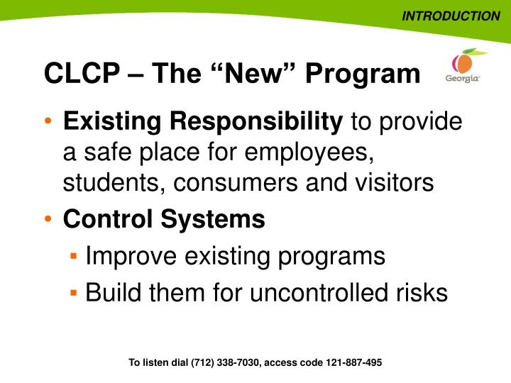 Clcp the new program