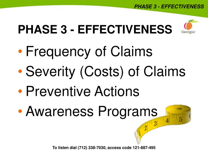PHASE 3 - EFFECTIVENESS