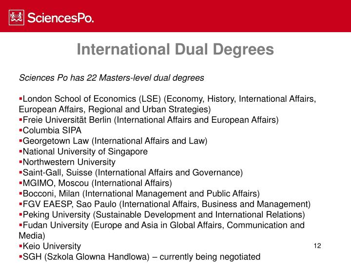 International Dual Degrees