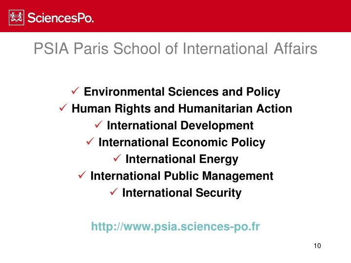 PSIA Paris School of International