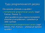 typy programovac ch jazyk1