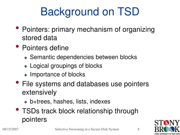 Background on TSD