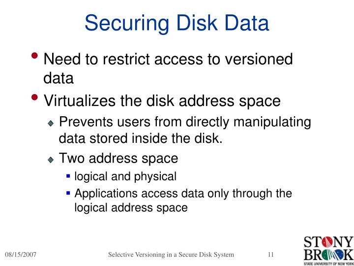 Securing Disk Data