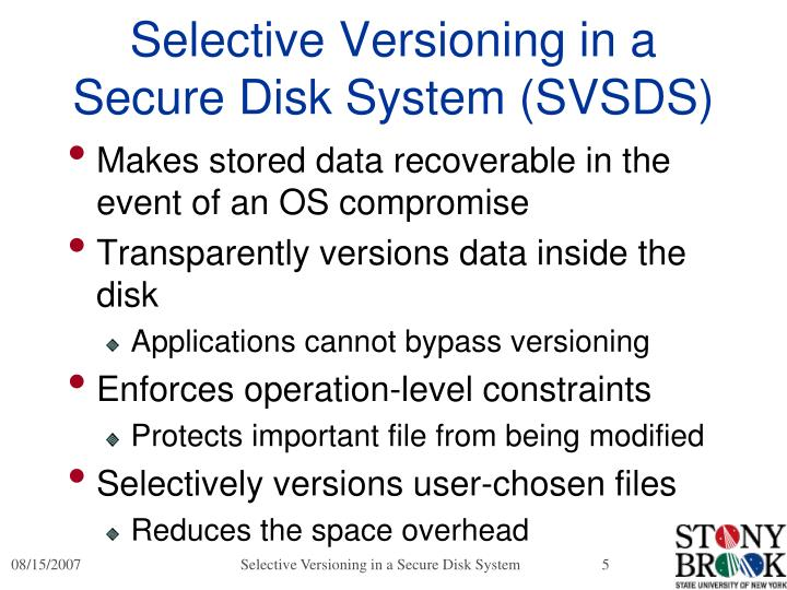 Selective Versioning in a