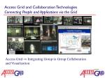 access grid and collaboration technologies connecting people and applications via the grid