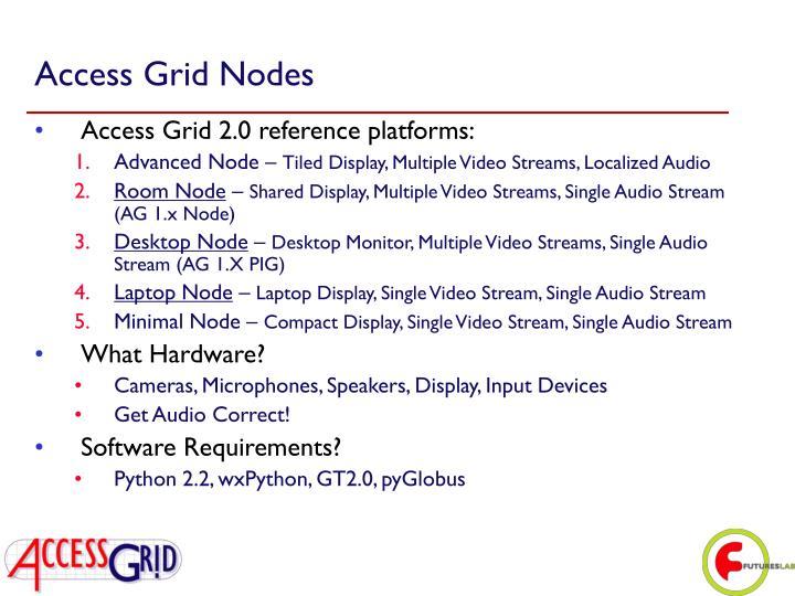 Access Grid Nodes