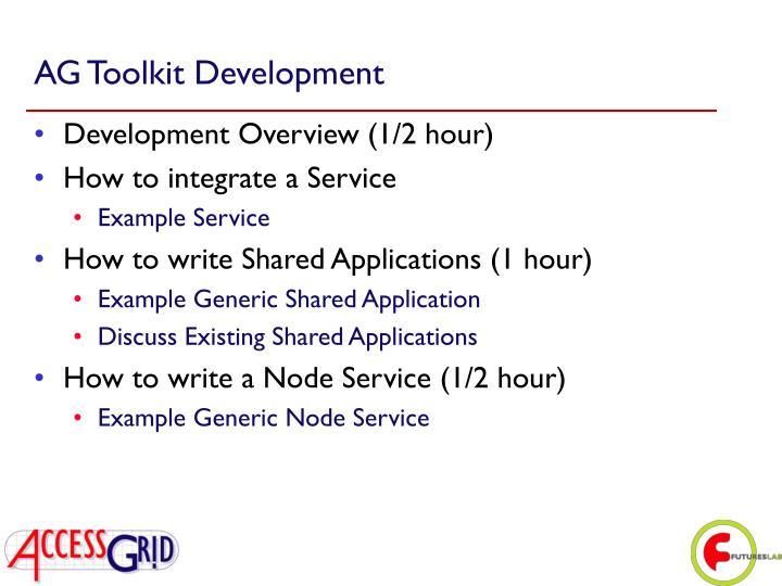 AG Toolkit Development