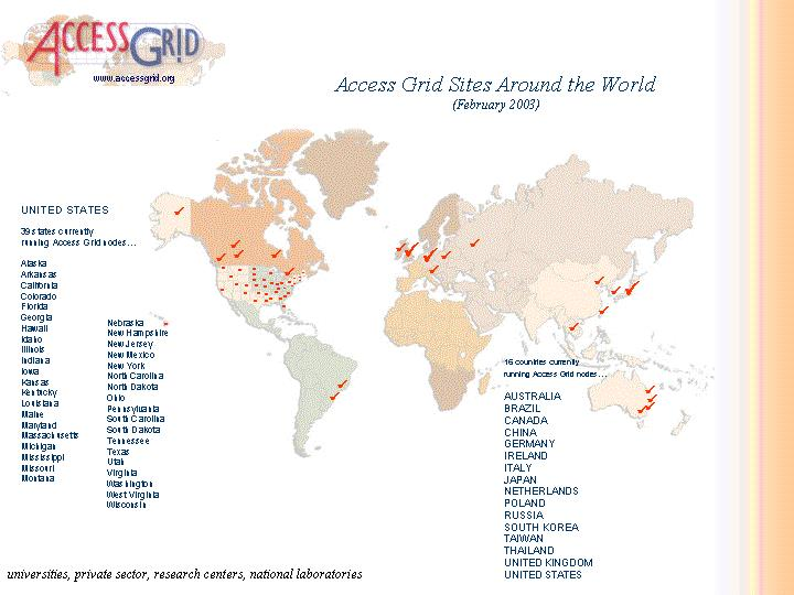 AG World on a map