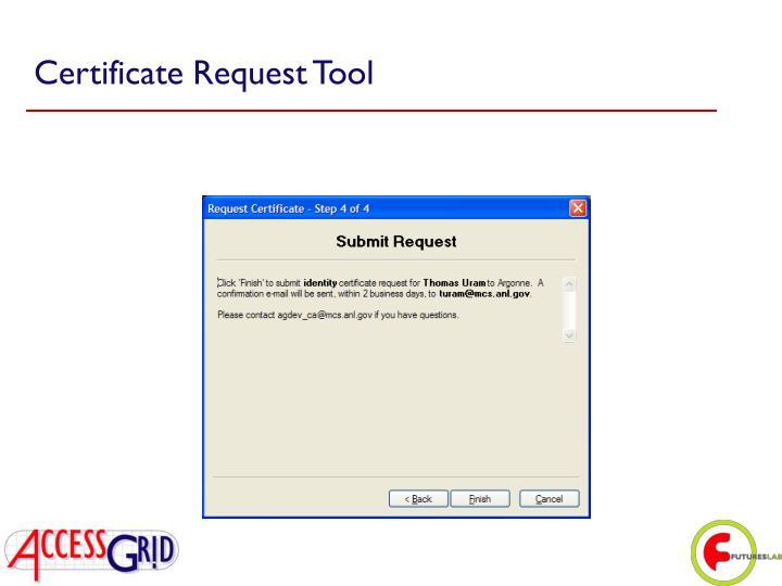 Certificate Request Tool