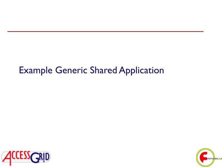 Example Generic Shared Application