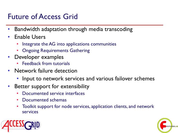 Future of Access Grid
