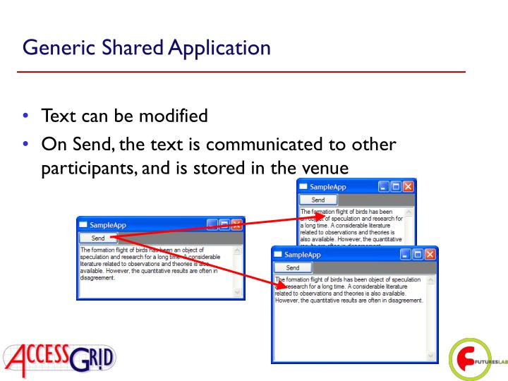 Generic Shared Application