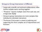 group to group interaction is different