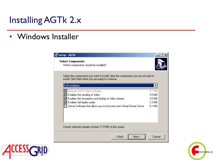 Installing AGTk 2.x