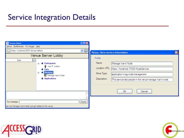 Service Integration Details