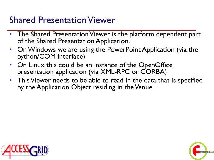 Shared Presentation Viewer