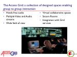 the access grid a collection of designed spaces enabling group to group interaction