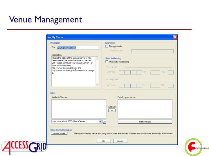 Venue Management