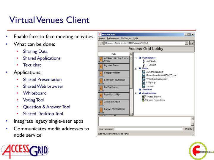 Virtual Venues Client