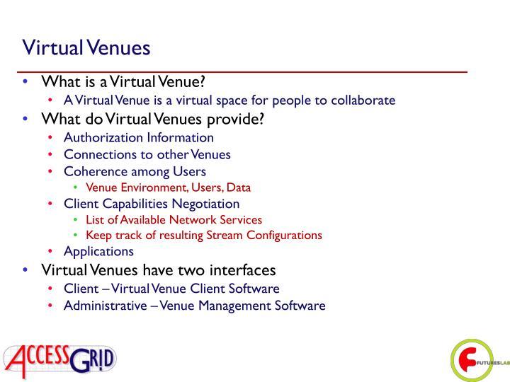 Virtual Venues