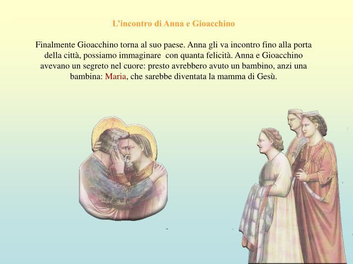 L'incontro di Anna e Gioacchino