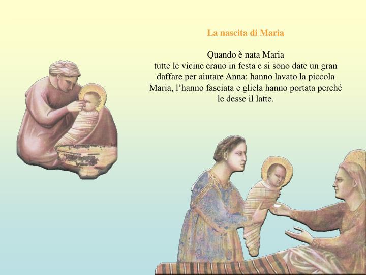 La nascita di Maria