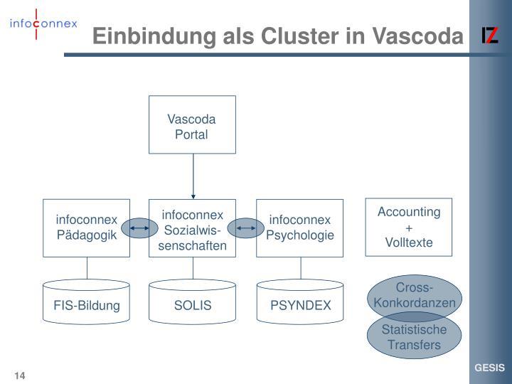 Einbindung als Cluster in Vascoda
